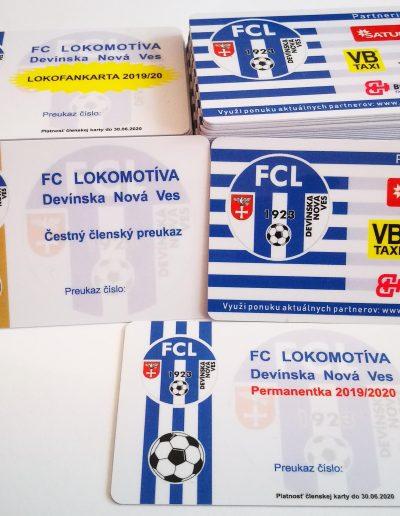 Plastové klubové karty FCL